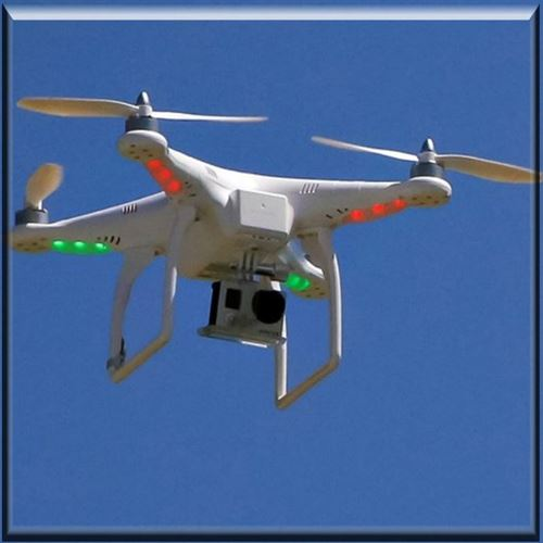 Picture of Drone Surveilling the Jail